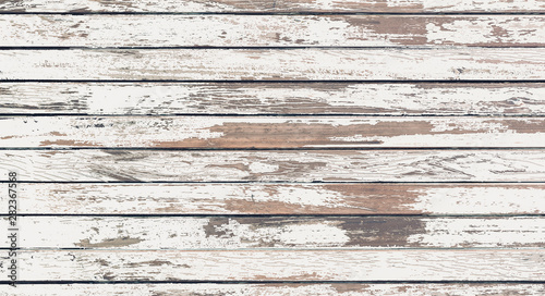 Foto auf Gartenposter Holz wood board white old style abstract background objects for furniture.wooden panels is then used.horizontal