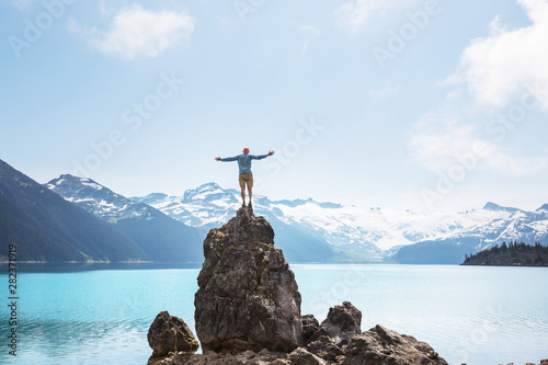 Obraz Garibaldi lake - fototapety do salonu