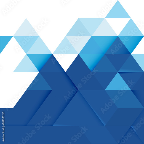 Fotografía  Abstract blue tone geometric layout template and modern overlapping with white space on top position