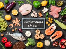 Mediterranean Diet Concept. To...