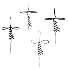 Faith Cross Vector Set Graphic...