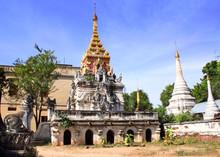 Ancient Temple And Stupas, Mya...