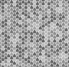 Abstract Vector Seamless Pattern With Fish Scales. Reptile, Snake, Lizard, Mermaid Tail, Dragon Skin Texture. Natral Gray Background. Repeating Backdrop For Textile, Clothes, Bedding, Wrapping Paper