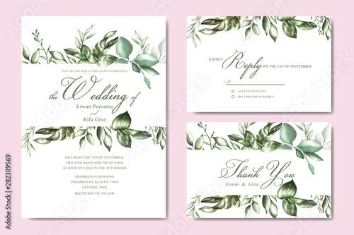 Szkło Hartowane Floral Wedding Invitation Elegant Invite