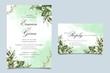 watercolor wedding invitation template card design