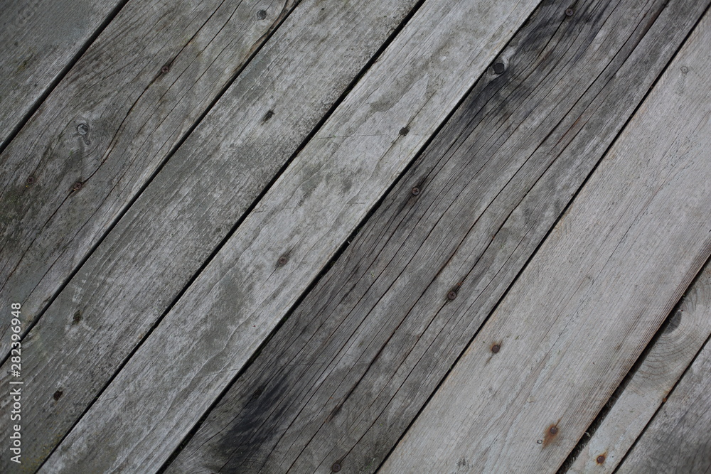 Fototapety, obrazy: texture of old gray boards