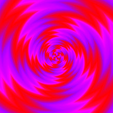 Red Spirals. Spin Illusion.