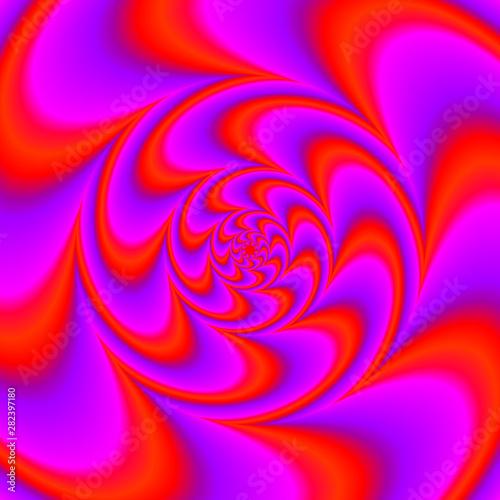 Valokuva Red spirals. Spin illusion.