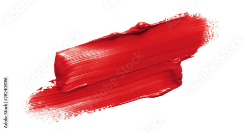 Lipstick smear smudge swatch isolated on white background Fototapet