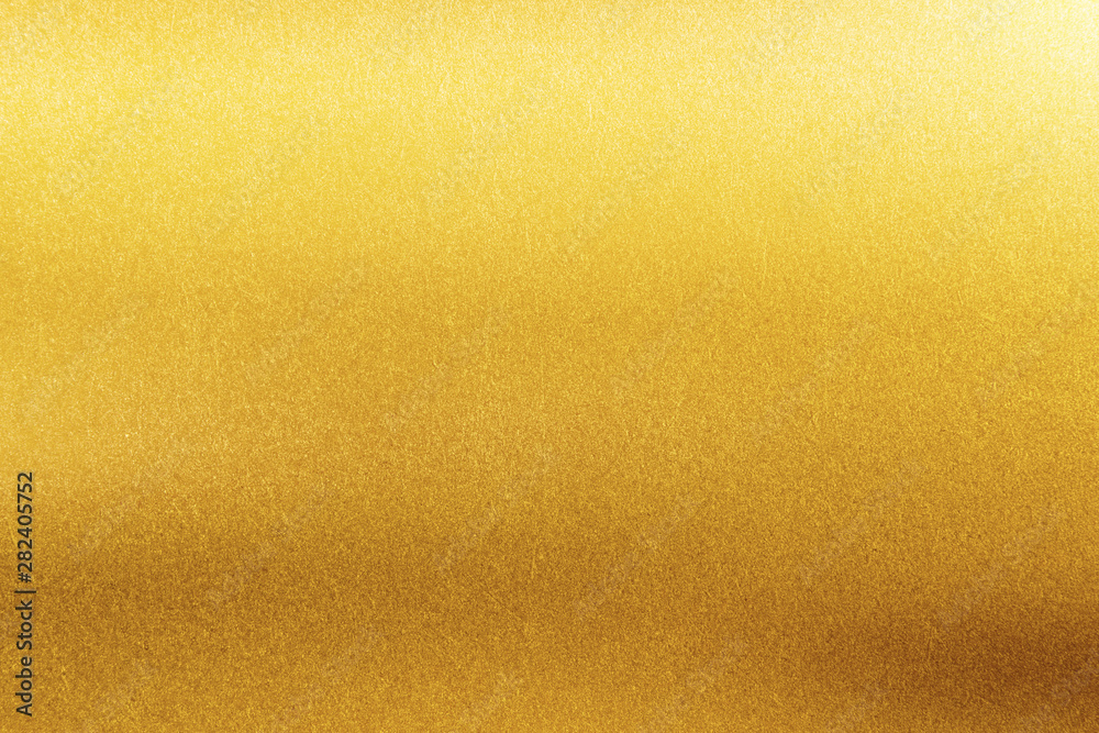 Fototapety, obrazy: Gold texture background. Retro golden shiny wall surface.