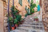 Fototapeta Na drzwi - Street scene in old part of Dubrovnik, Croatia.