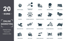 Online Marketing Icon Set. Con...