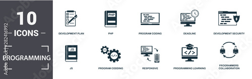Cuadros en Lienzo Programmer icon set