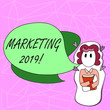 Leinwanddruck Bild - Text sign showing Marketing 2019. Conceptual photo New Year Market Strategies Fresh start Advertising Ideas