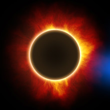 A Total Solar Eclipse Illustration