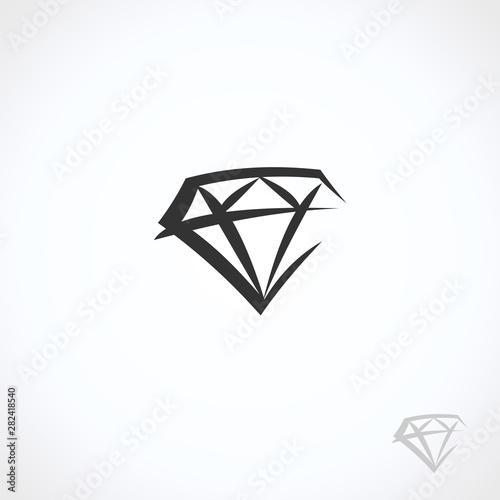 Fotomural  Diamond collection set. Collection icon diamonds. Vector