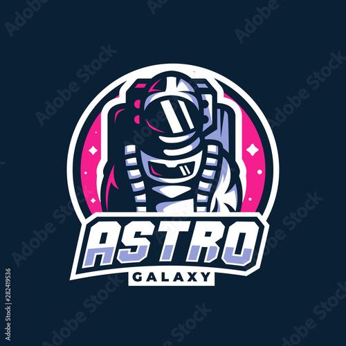 Valokuvatapetti astronaut space galaxy mascot gaming esport logo