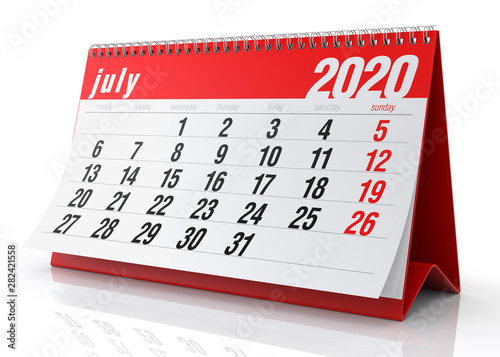 July 2020 Calendar - Buy this stock illustration and explore