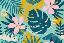 Collage Contemporary Floral Se...