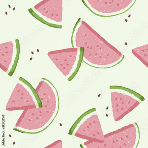 Fototapeta Watermelons, small and large slices
