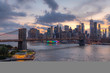 New York City evening downtown skyline