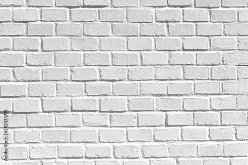 White Clean Brick Wall As Texture Background Or Backdrop High