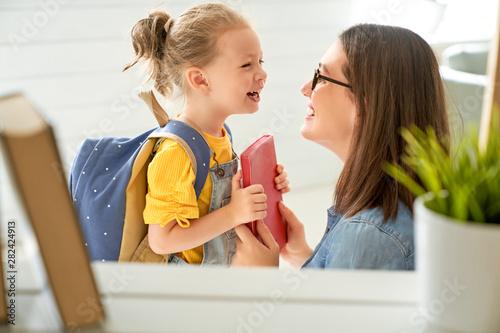 Canvas Prints Personal Parent and pupil of preschool.