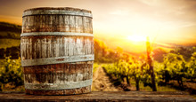 Wooden Old Retro Barrel And Au...