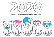 Number 2020, Snowflakes, Cats ...