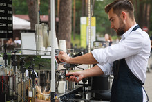 Handsome Barista Man During Wo...