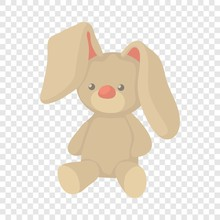 Plush Toy Bunny Icon. Cartoon ...