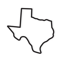 Black Outline Of Texas Map- Ve...