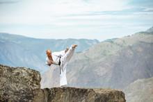 Karate Athlete Demonstrating K...