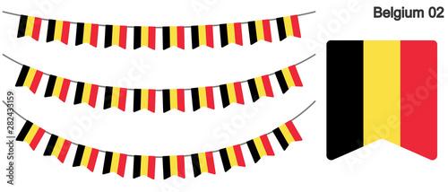 Fotografía ベルギーの国旗のガーラーンド ベクターデータ(bunting garland)