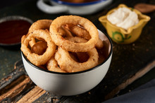 Calamares A La Romana, Fried Battered Squid Rings.