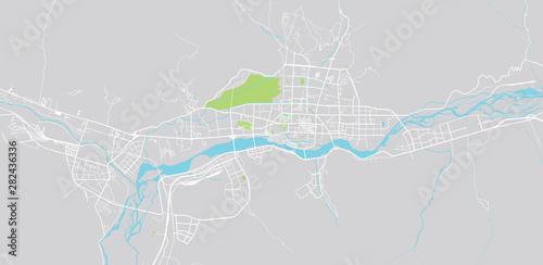 Cuadros en Lienzo  Urban vector city map of Lhasa, China