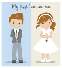 My First Communion Girl And Bo...