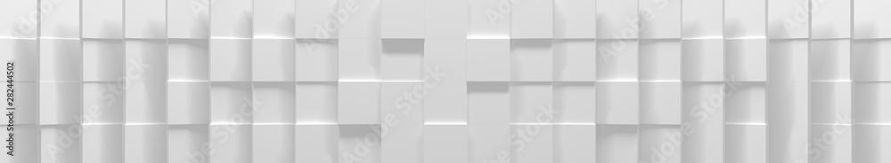 Fototapety, obrazy: Wide White Cube Background (Website Head) (3D Illustration)