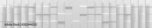 Photo  Wide White Cube Background (Website Head) (3D Illustration)