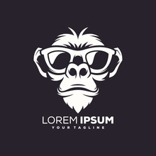 Awesome Cool Monkey Logo Design