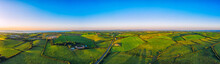 Aerial Panoramic View Of Summe...