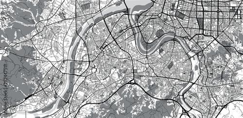 Canvas Print Urban vector city map of New Taipei, China