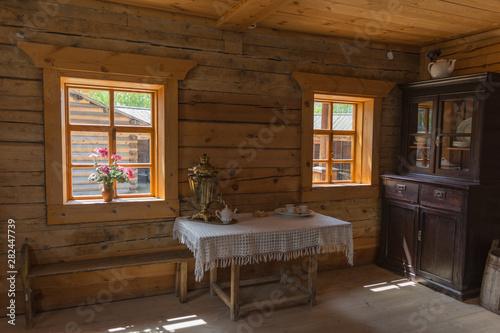 Irkutsk Region, Taltsy, Museum of Ancient Zotchestvo, June 2019 window view in a Tableau sur Toile
