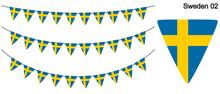 スウェーデンの国旗のガーラーンド ベクターデータ(bunting Garland)