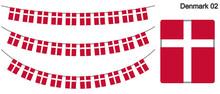 デンマークの国旗のガ...