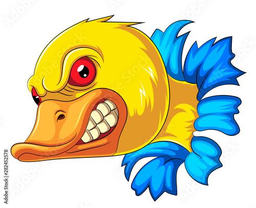 Fotografie, Tablou  Angry duck head mascot