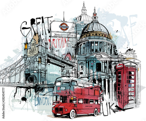 Obrazy Londyn   londyn-kolaz