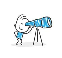 Stickman Blue: Search, Telescope. (Nr. 10)