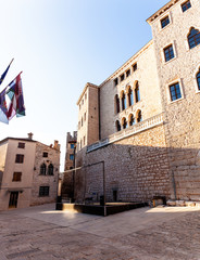 Fototapeta na wymiar The Soardo – Bembo palace in Valle - Bale, Istria
