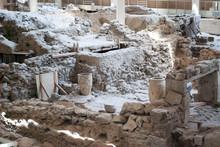 Greece, Santorini. Archaeologi...